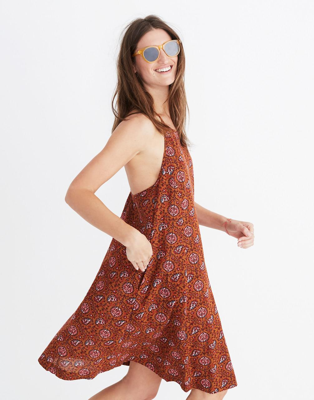 76b44d1f21 Madewell Halter Cover-up Dress In Warm Paisley - Lyst