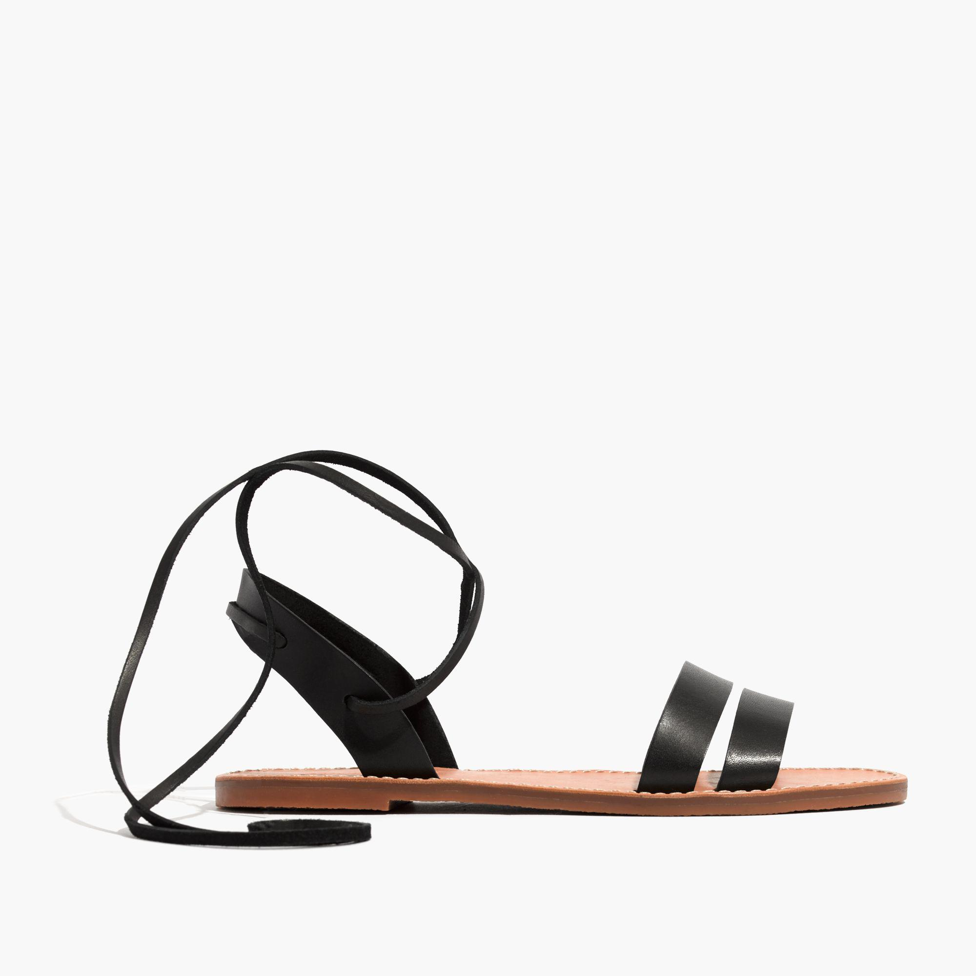 da3c7e2a5759 Lyst - Madewell The Boardwalk Ankle-tie Sandal in Black