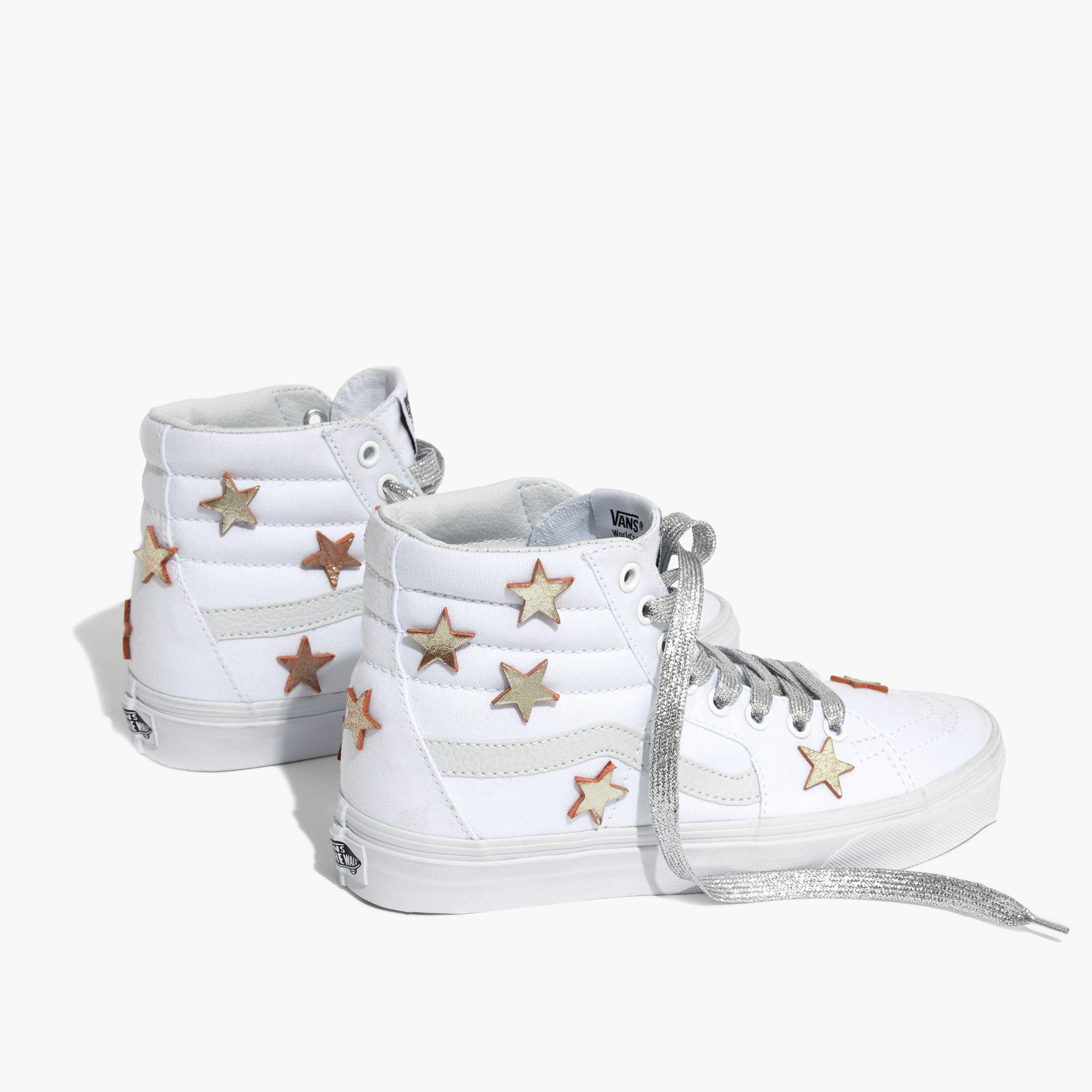4d7aa6064431fe Madewell Star-patched Vans® Unisex Sk8-hi High-top Sneakers in ...