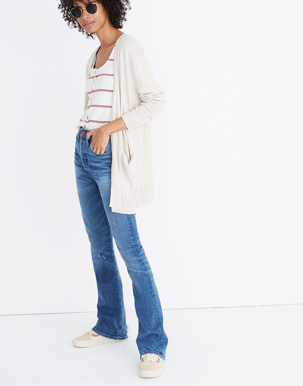 04d1cd848d Lyst - Madewell Summer Ryder Cardigan Sweater in Natural