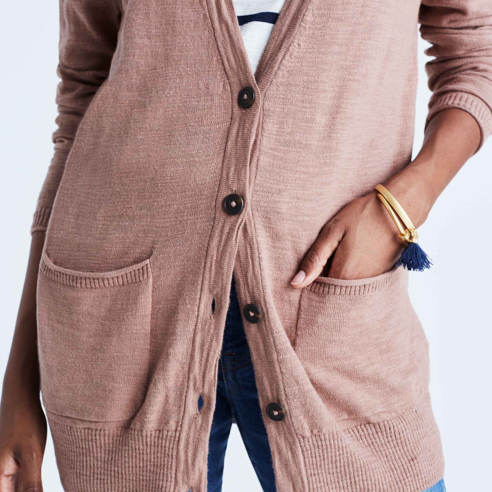 Madewell Graduate Cardigan Sweater in Blue | Lyst