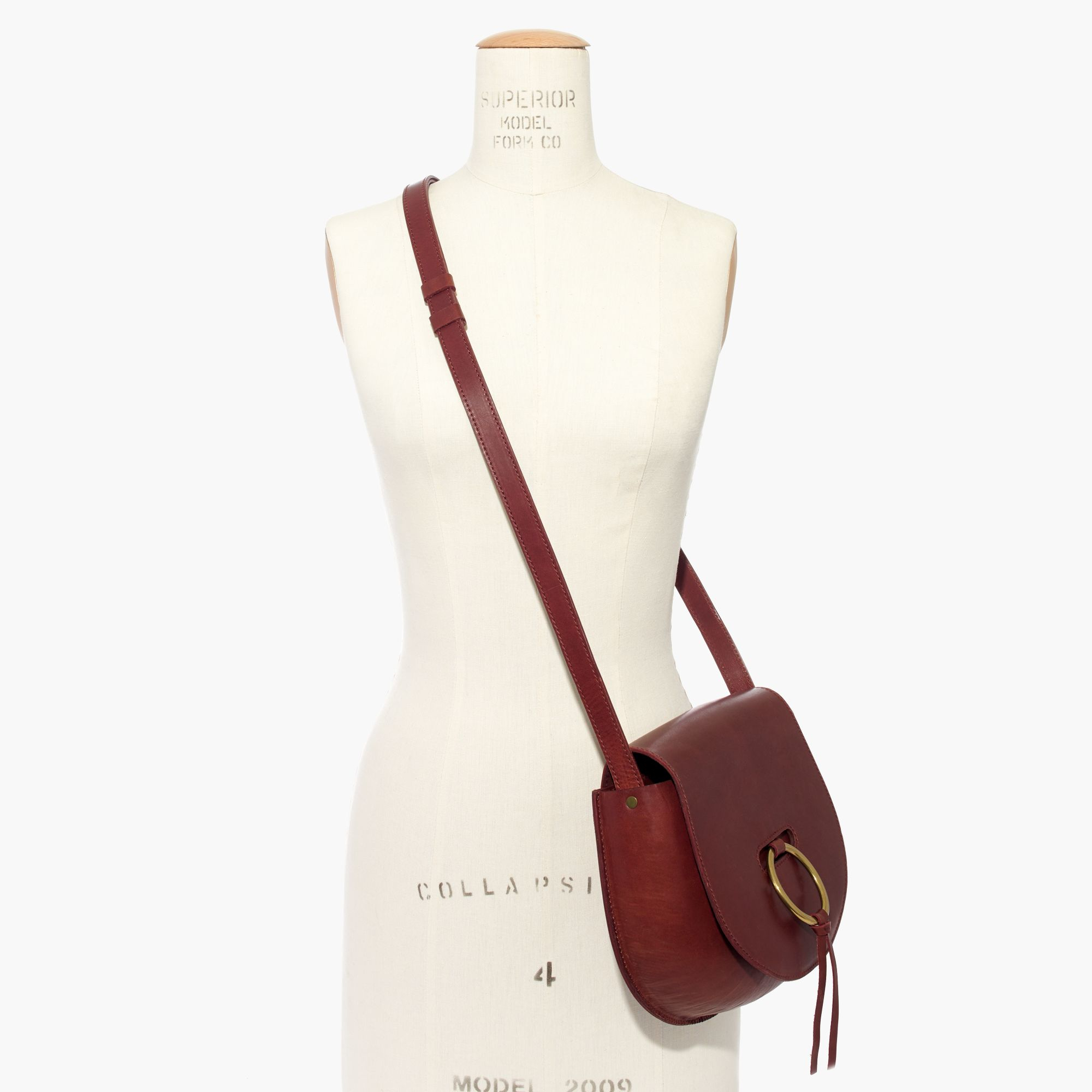c087b8ade89b Lyst - Madewell The Lisbon O-ring Saddlebag In Leather