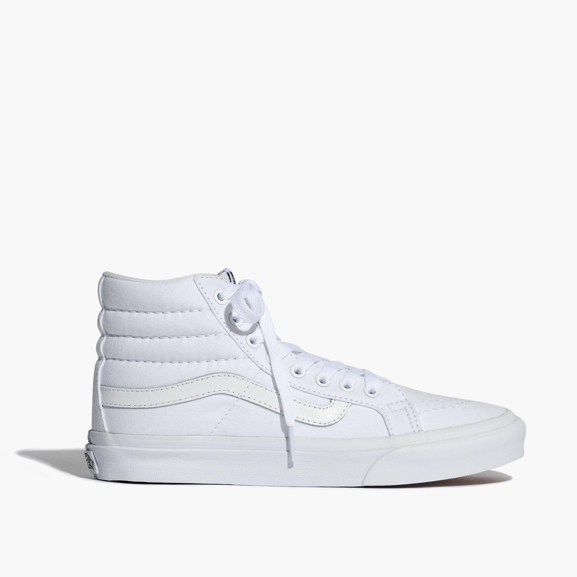 0b8704a9f4 Madewell Vans® Sk8-hi Slim High-top Sneakers In Canvas in White - Lyst