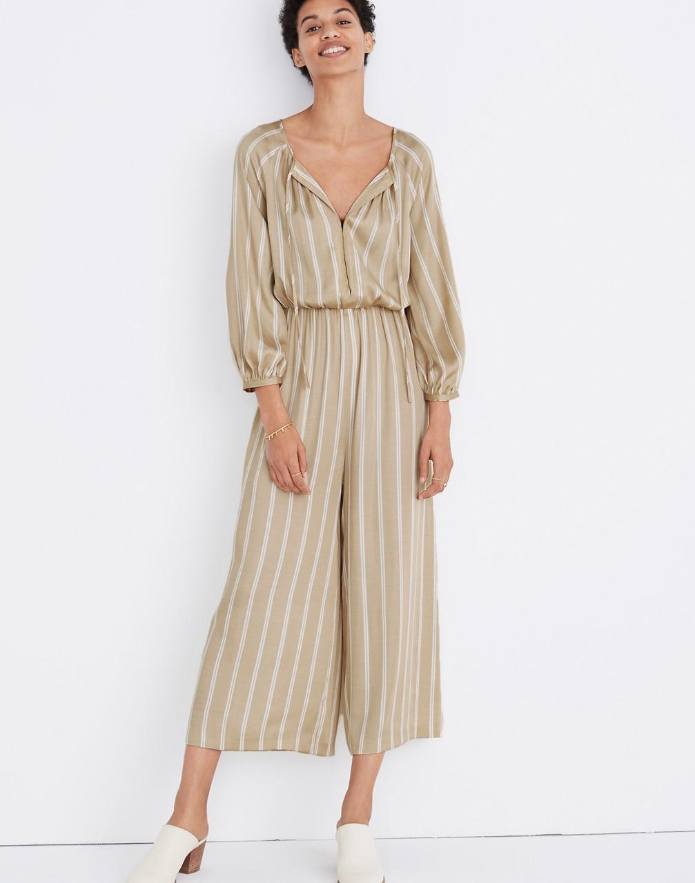 8dd881ffeb Madewell Striped Cypress Jumpsuit in Natural - Lyst