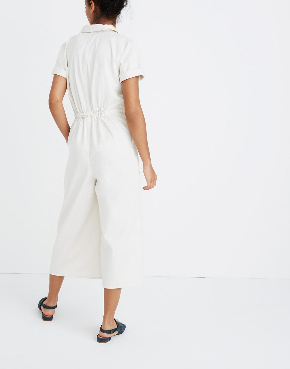 614172b209c5 Lyst - Madewell Wide-leg Utility Jumpsuit in White