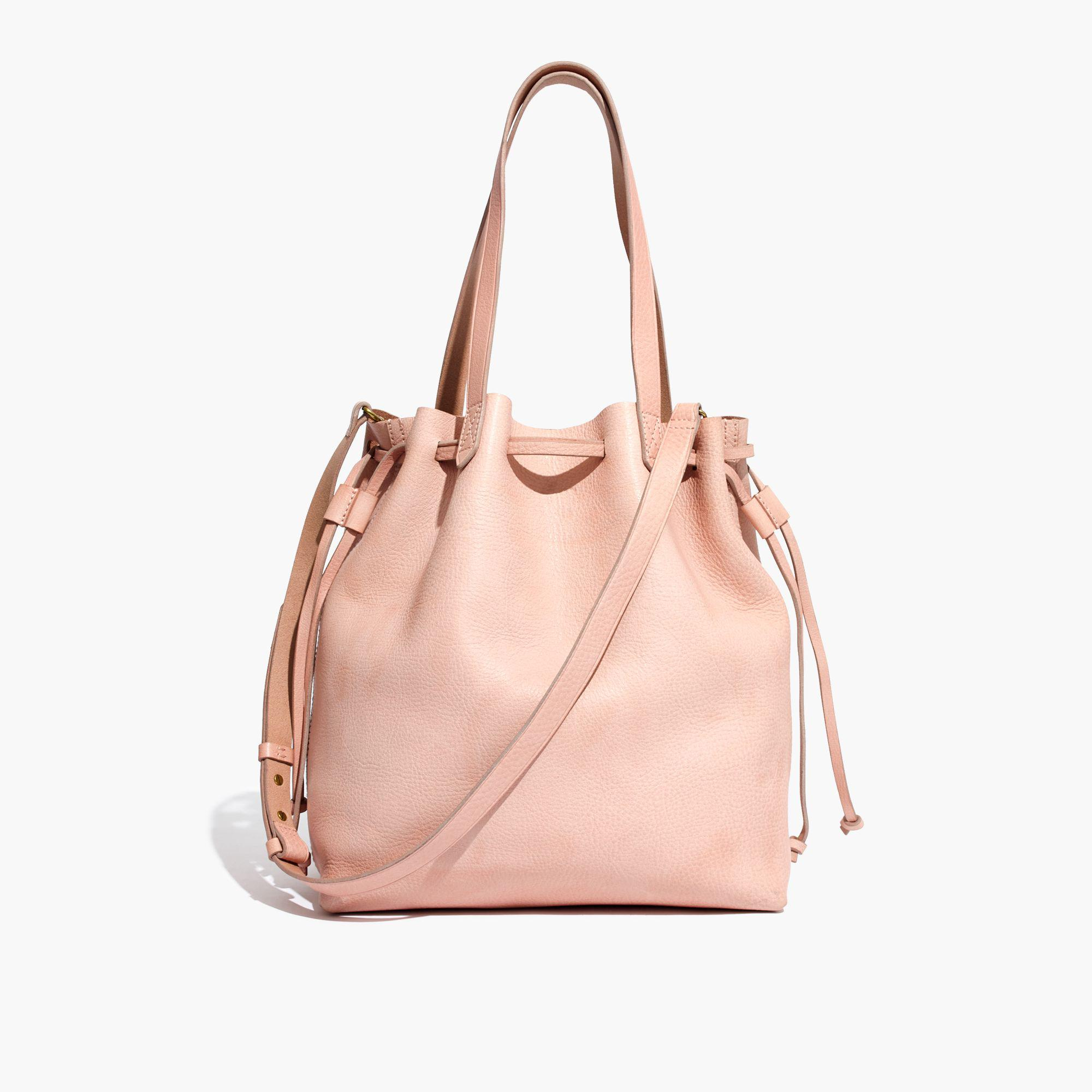 034ffbe1a617 Lyst - Madewell The Medium Drawstring Transport Tote in Pink