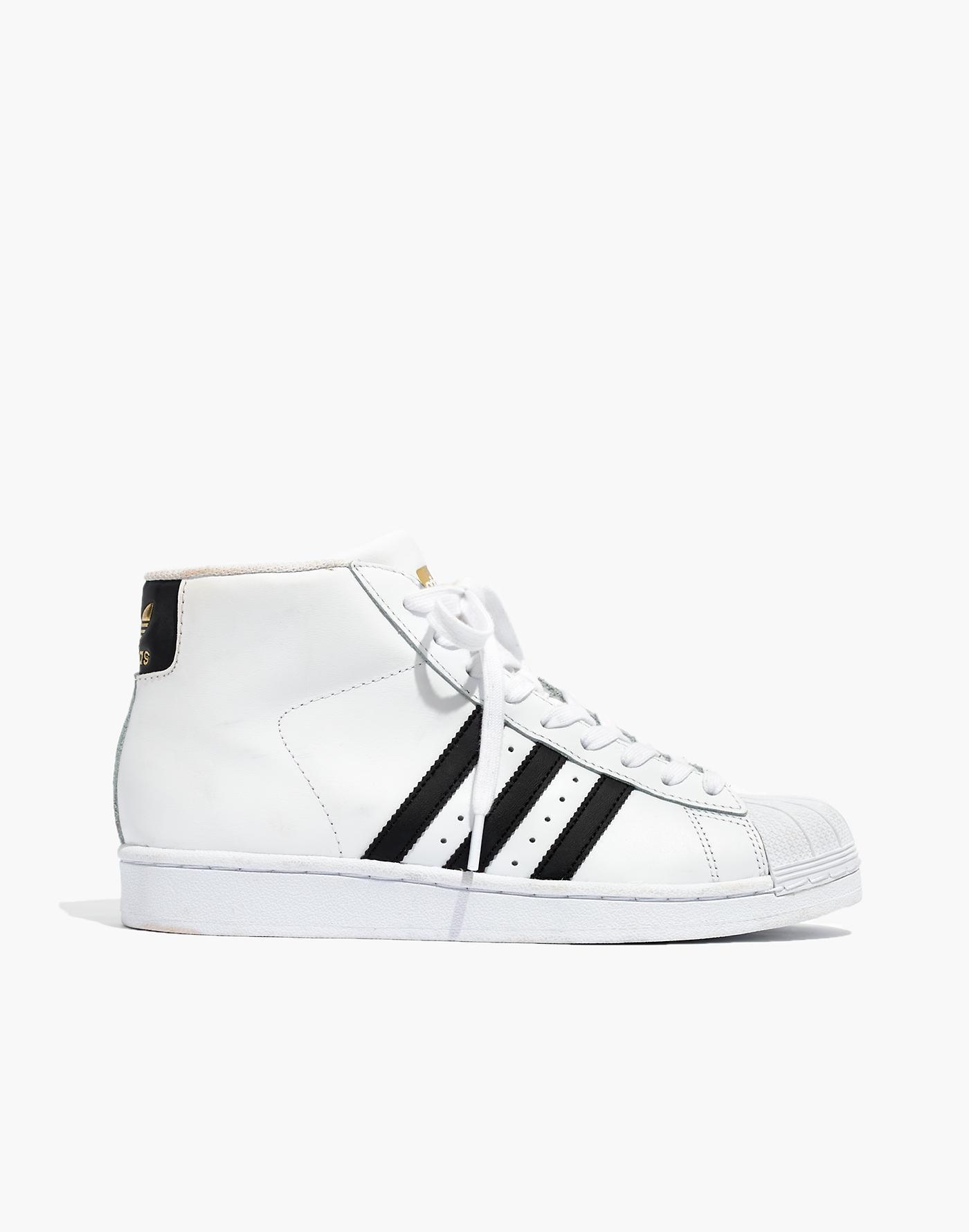 2ead03032a Madewell Adidas Superstartm Pro Model High-top Sneakers in White - Lyst