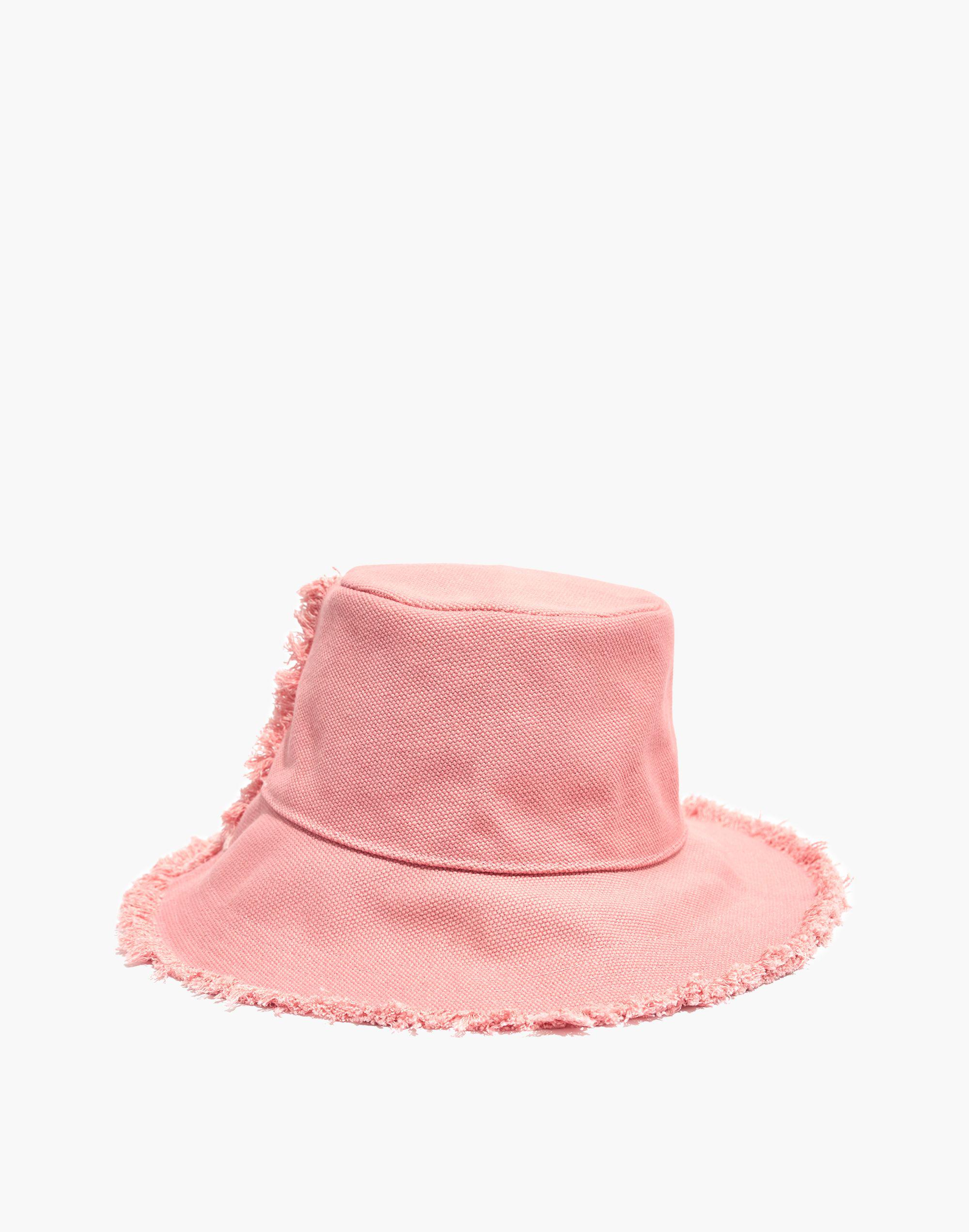 23c631b7aef5e Madewell Canvas Bucket Hat in Pink - Lyst