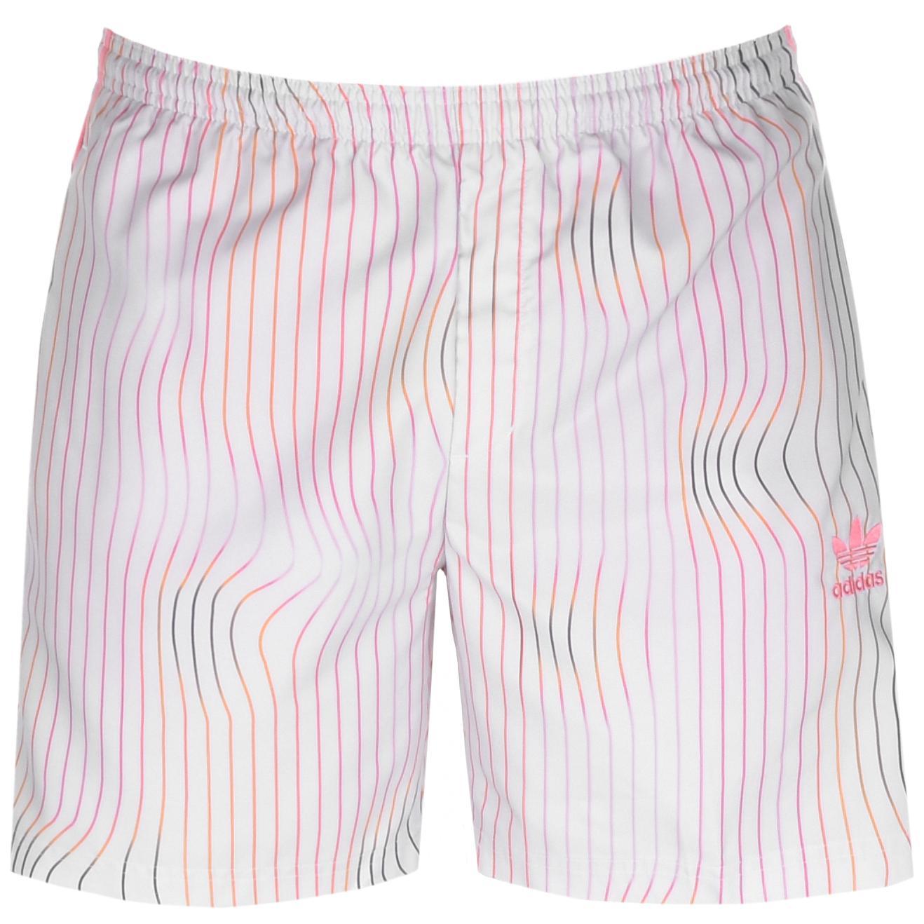 783e21dcd1f13c Lyst - Adidas Originals Stripe Swim Shorts Grey in Gray for Men