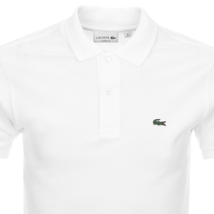 6ded050ef7 White Lacoste Polo T Shirt - DREAMWORKS