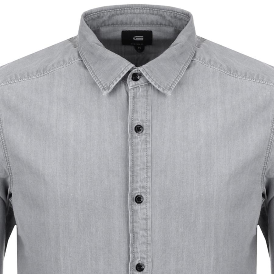 634a5e31937 G-Star RAW Denim Landoh Shirt Grey in Gray for Men - Lyst