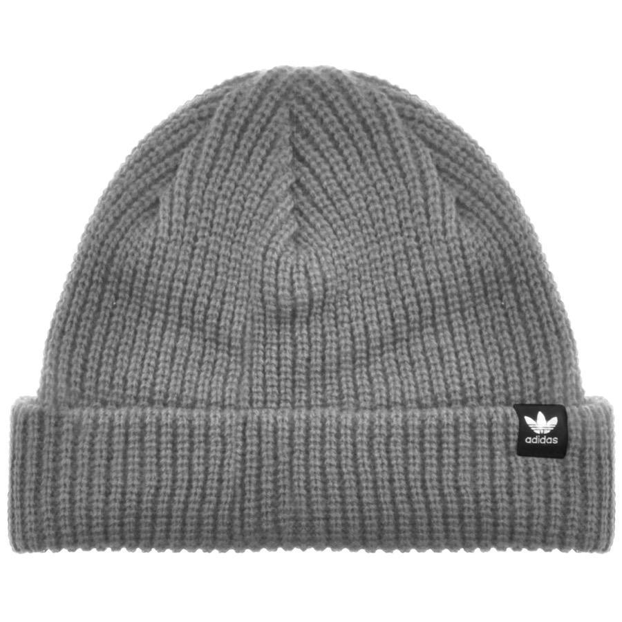 adidas Originals Short Beanie Hat Grey in Gray for Men - Lyst 47e56e68cb3