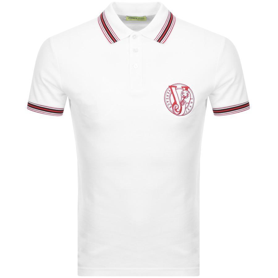 0d2e58950 Lyst - Versace Jeans Short Sleeved Polo T Shirt White in White for Men
