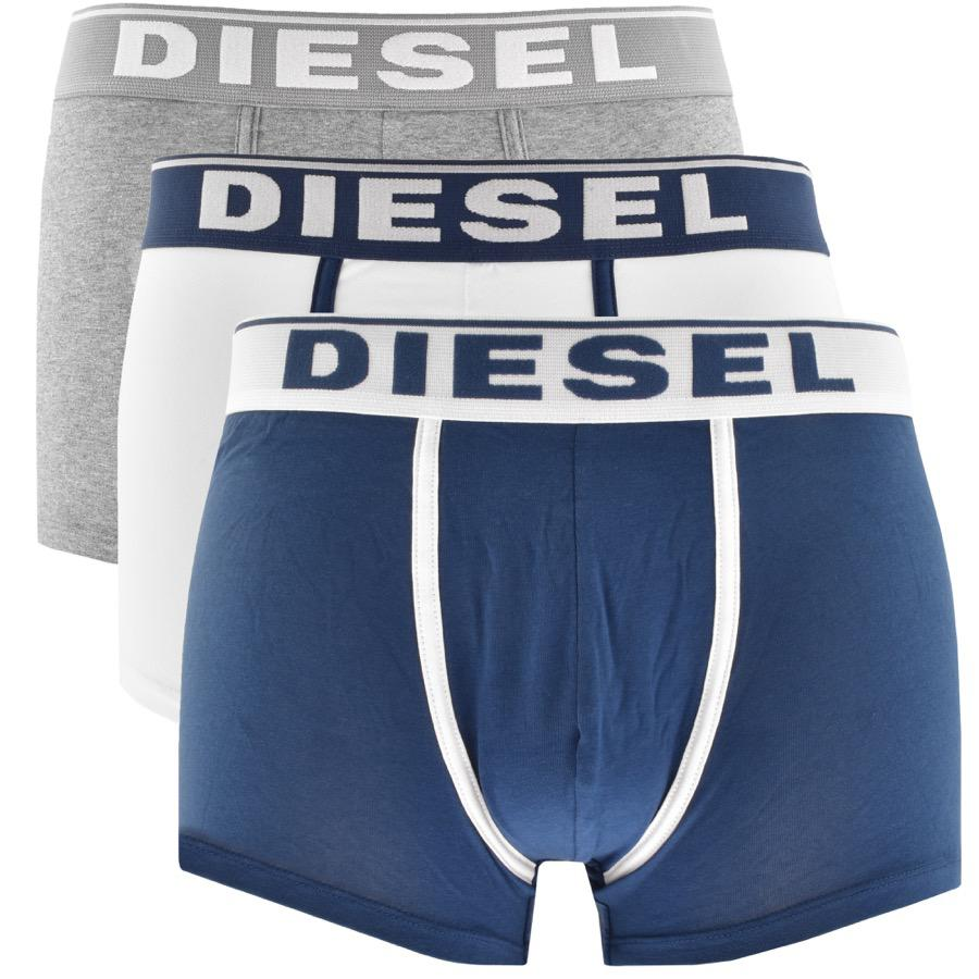 3544788bb Lyst - DIESEL Underwear Damien 3 Pack Boxer Shorts Navy in Blue for Men