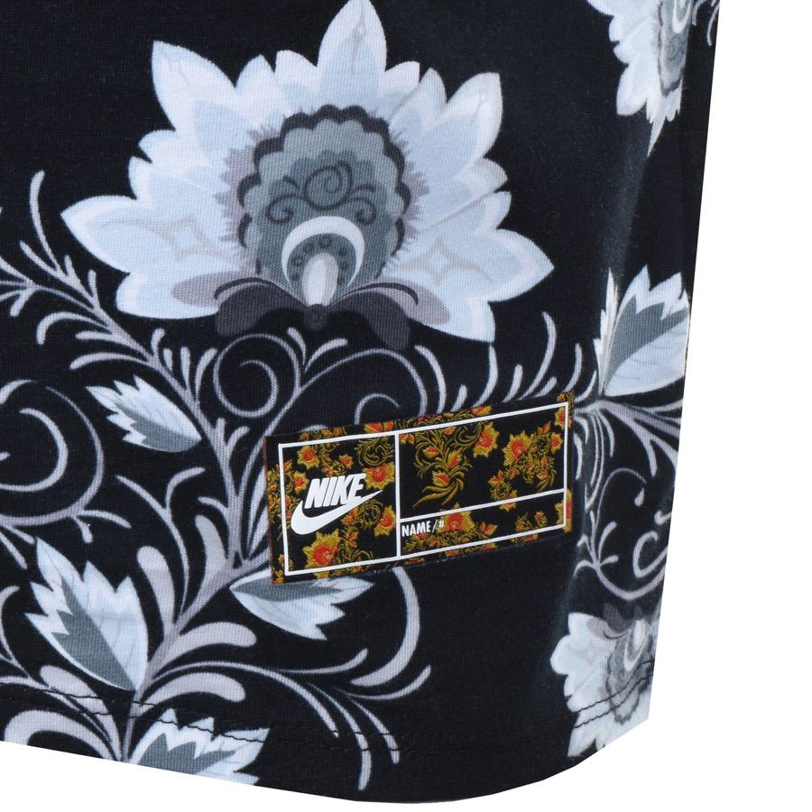 pretty nice 2a6fc 15176 Nike Floral Swoosh T Shirt Black in Black for Men - Lyst
