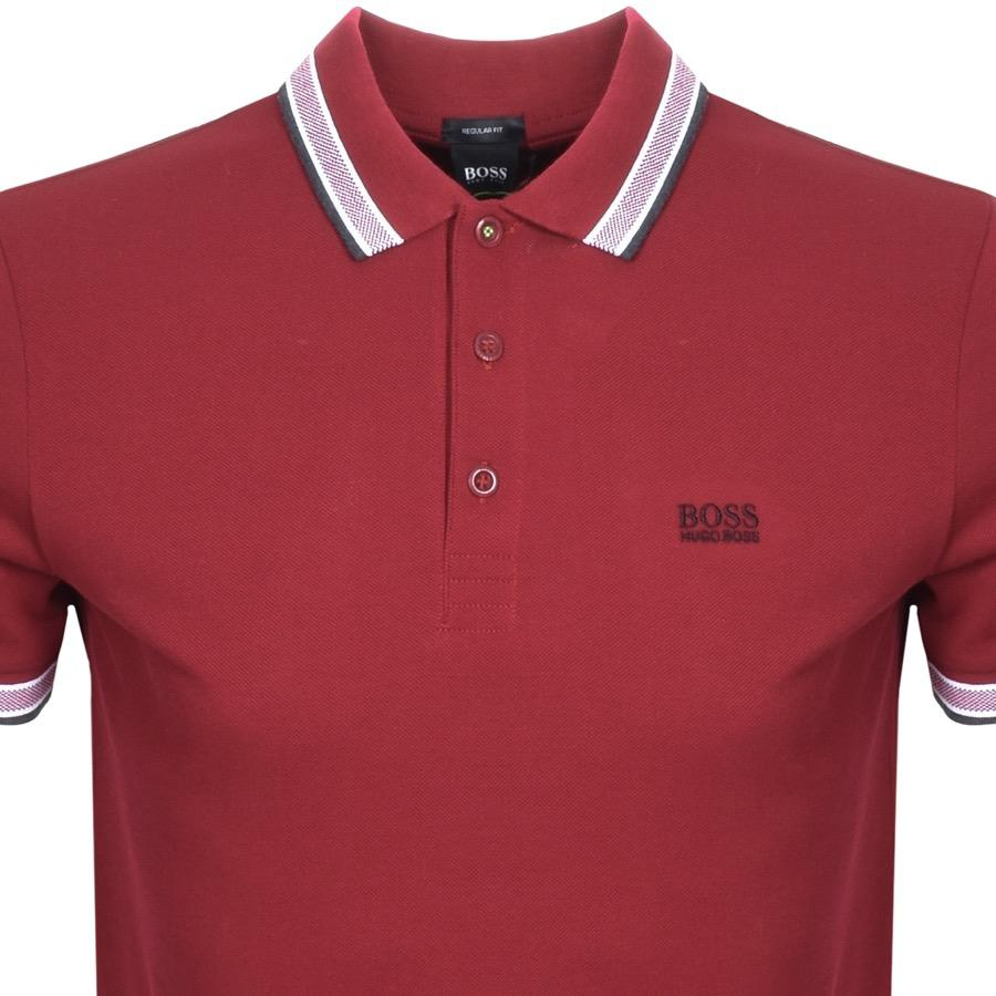 449b1e863b38 Lyst - BOSS Athleisure Boss Green Paddy Polo T Shirt Red in Red for Men