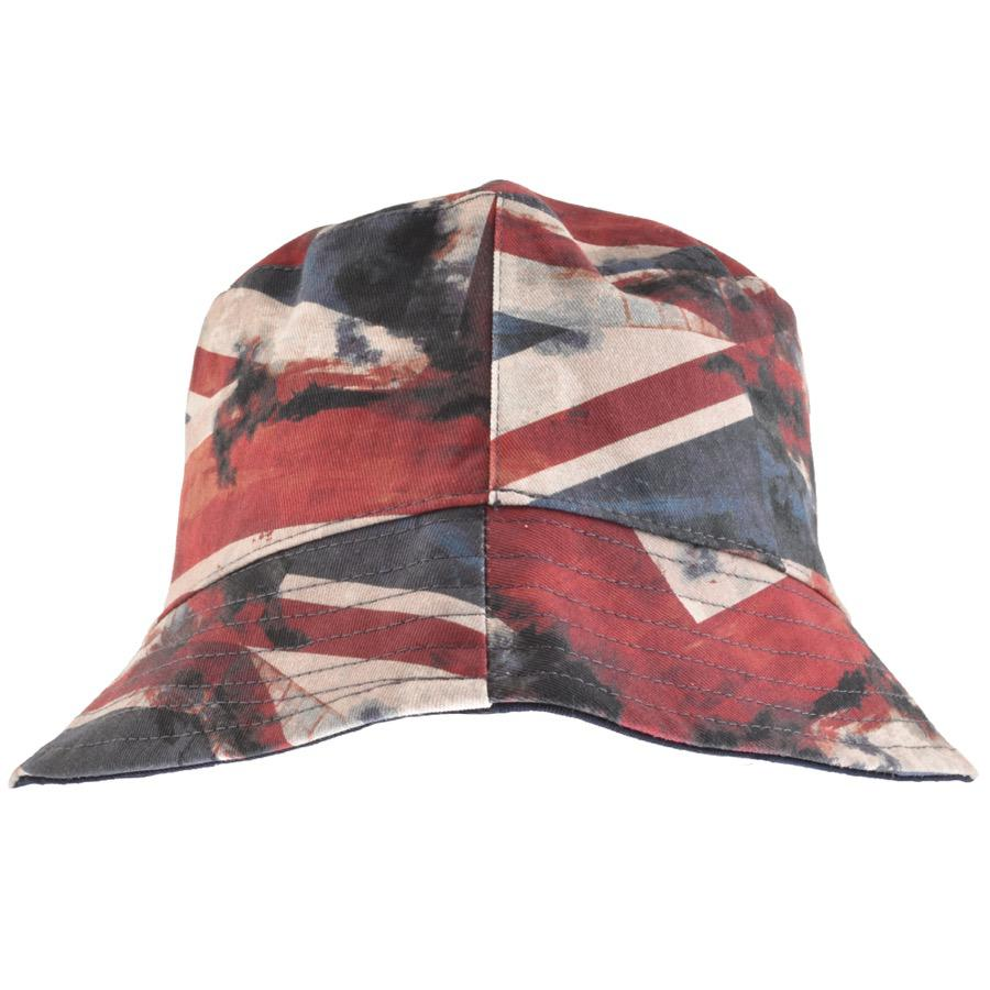 95ad603e39f Lyst - Pretty Green Reversible Union Jack Bucket Hat Navy in Blue ...