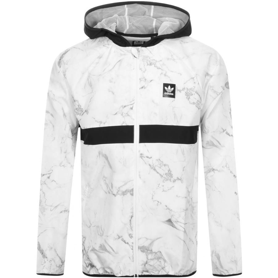 28ff01d24d adidas Originals Marble Windbreaker Jacket White in White for Men - Lyst