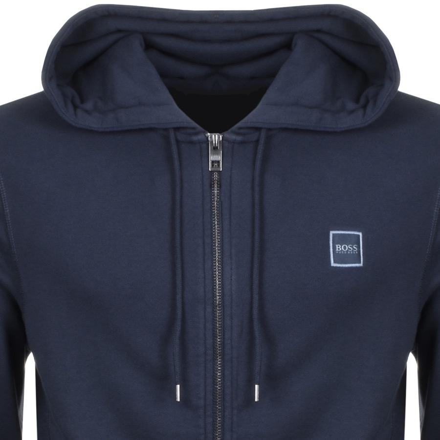 2b704107 BOSS by Hugo Boss Boss Orange Full Zip Znacks Hoodie Navy in Blue ...
