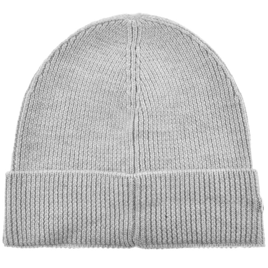 97b79d0fde7f3 Lyst - Lacoste Ribbed Beanie Grey in Gray for Men