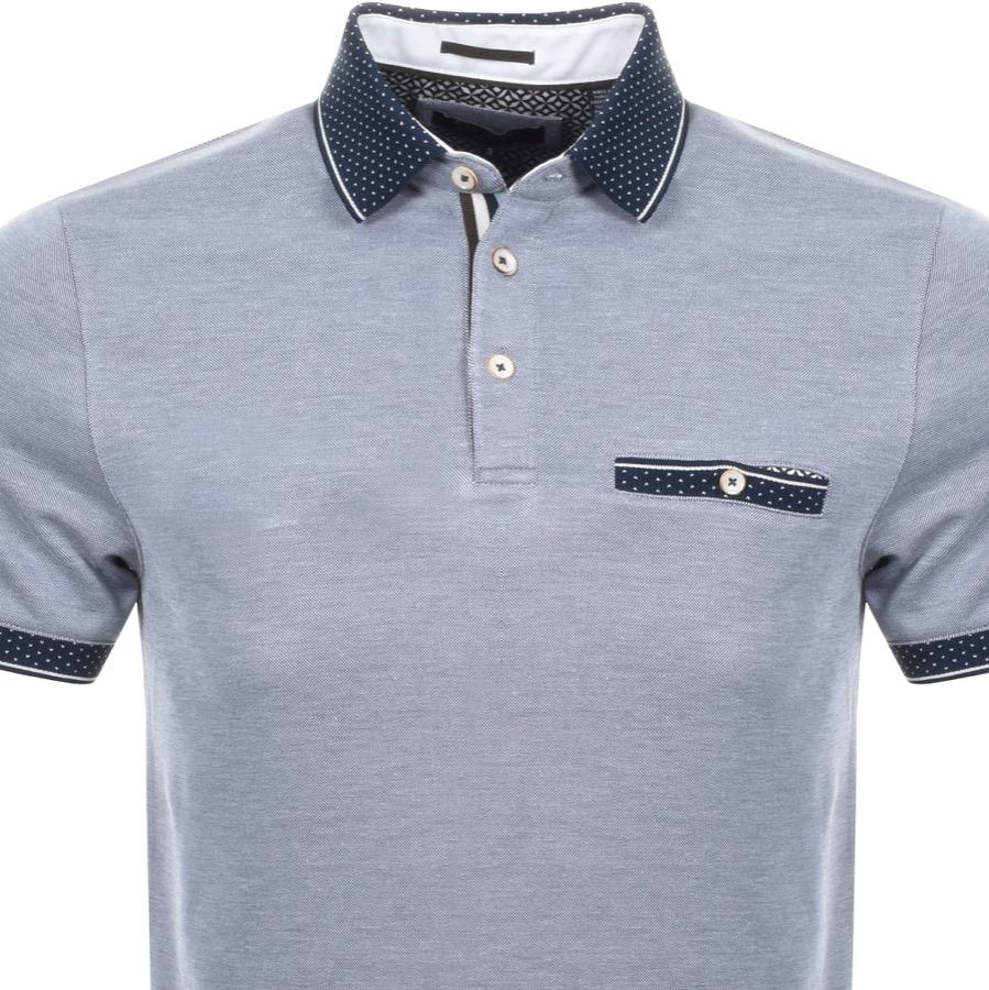 Ted Baker Cagey Polo Shirt in Navy