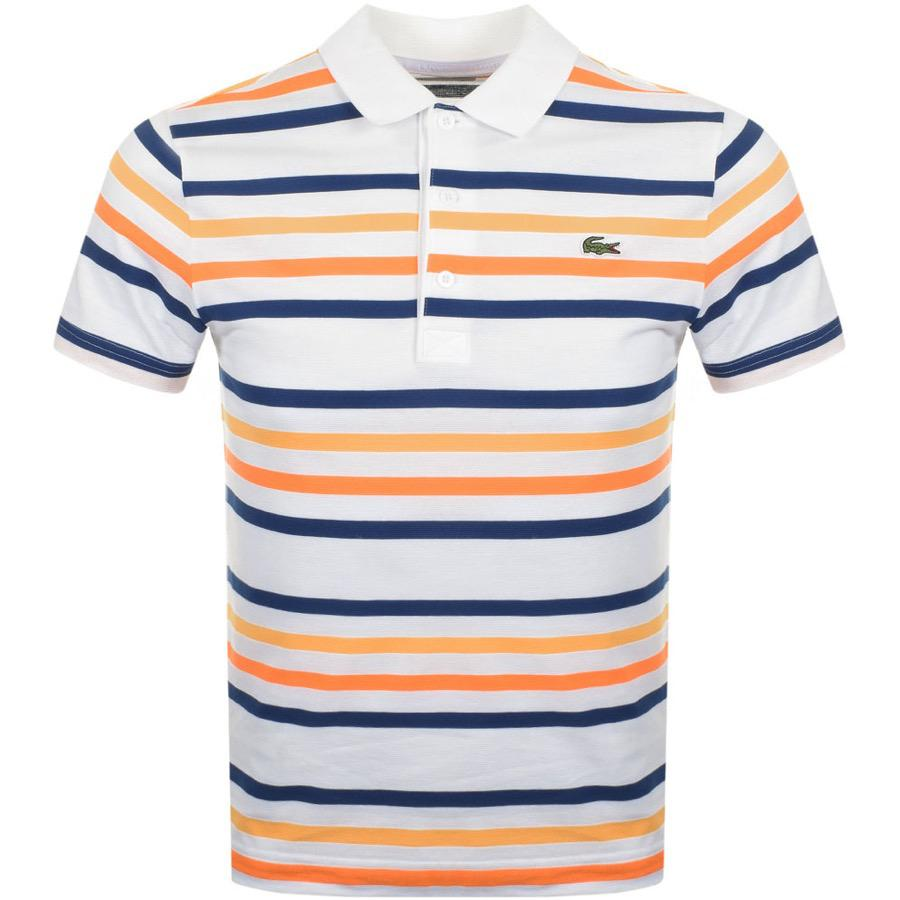 93f035a1 Lacoste Sport Block Stripe Polo T Shirt White – EDGE Engineering and ...