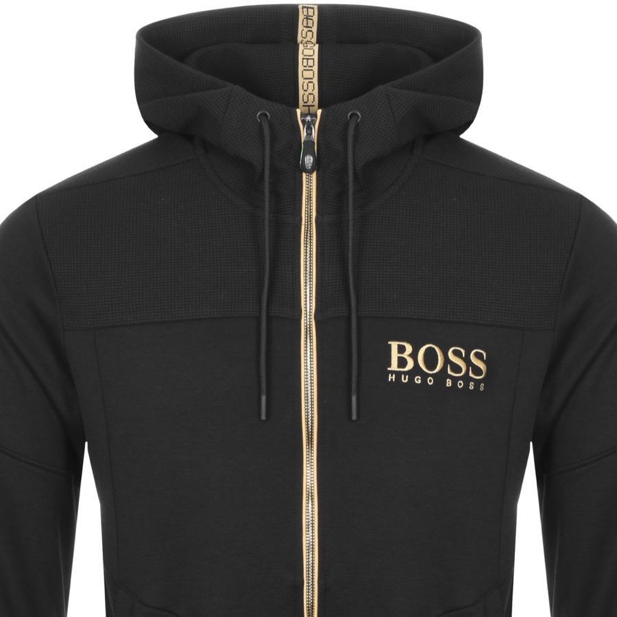 b44ab99dfc7 BOSS Athleisure Boss Green Saggy Full Zip Hoodie Black in Black for ...
