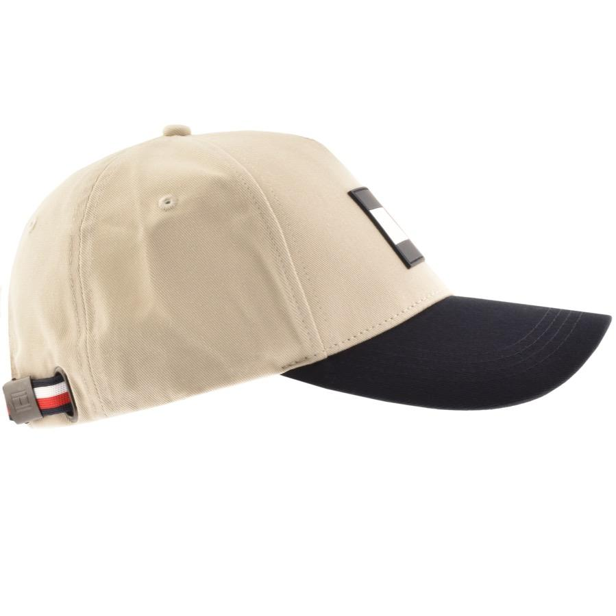 c97102a0 Tommy Hilfiger Flag Logo Cap Cream in Natural for Men - Lyst
