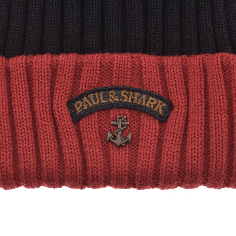 Paul   Shark Paul And Shark Knitted Beanie Navy in Blue for Men - Lyst 67a9cc4bab0b