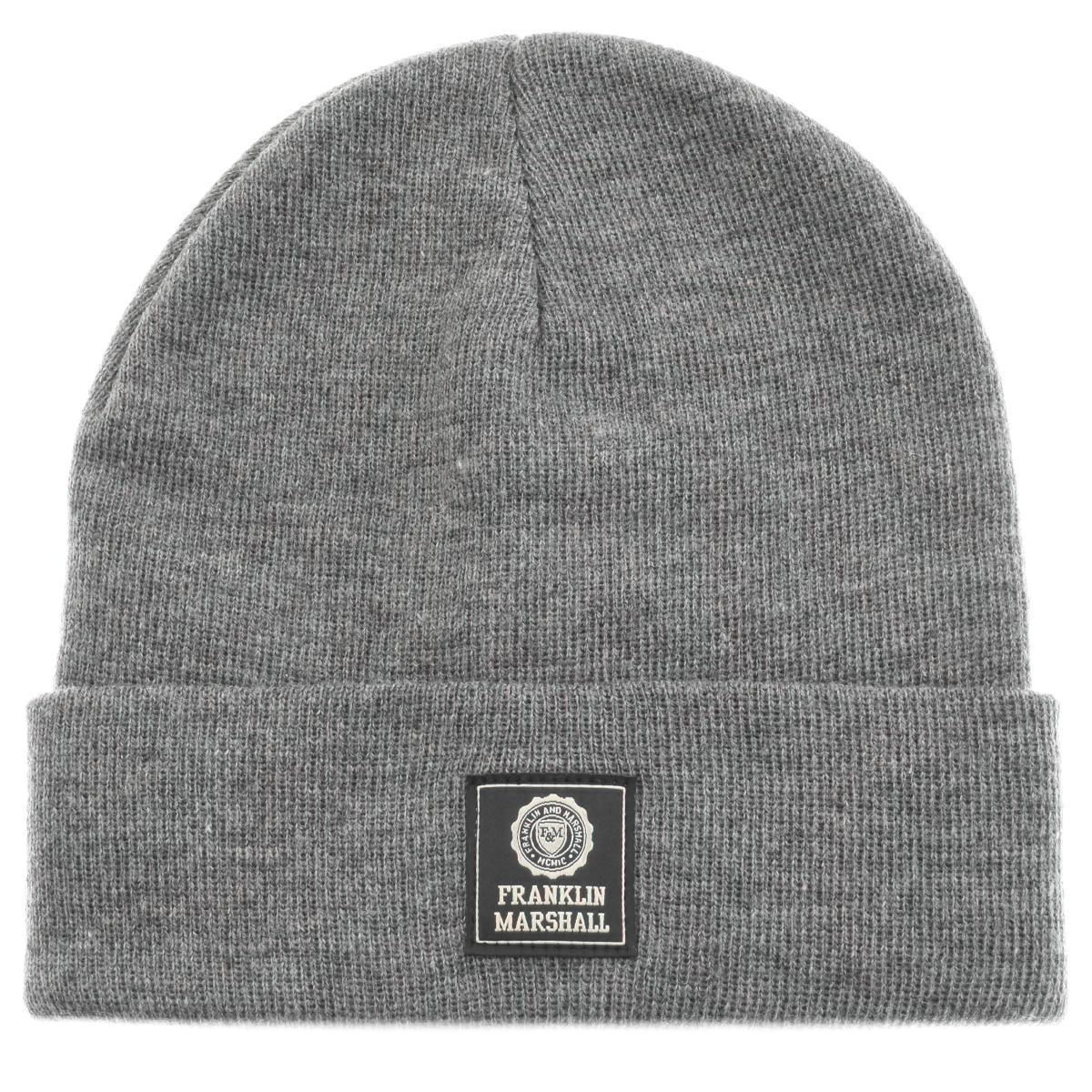 f4cf29eb7c4 Franklin   Marshall Logo Beanie Hat Grey in Gray for Men - Lyst