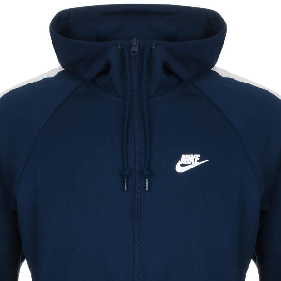 7ec7fe483f75 Lyst - Nike Tribute Varsity Zip Hoodie Navy in Blue for Men