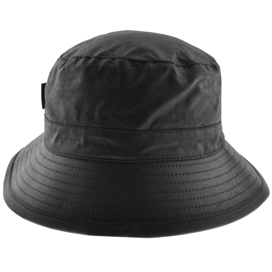 076ce7e1 ... buy barbour waxed bucket hat black in black for men lyst e5378 c0ca0