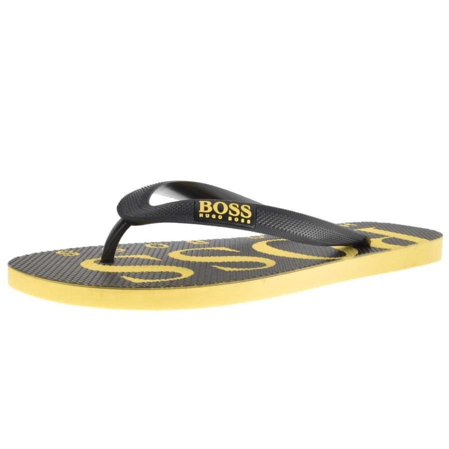 a02ffc2dc9159 Lyst - Boss Green Wave Thng Flip Flops Black in Black for Men