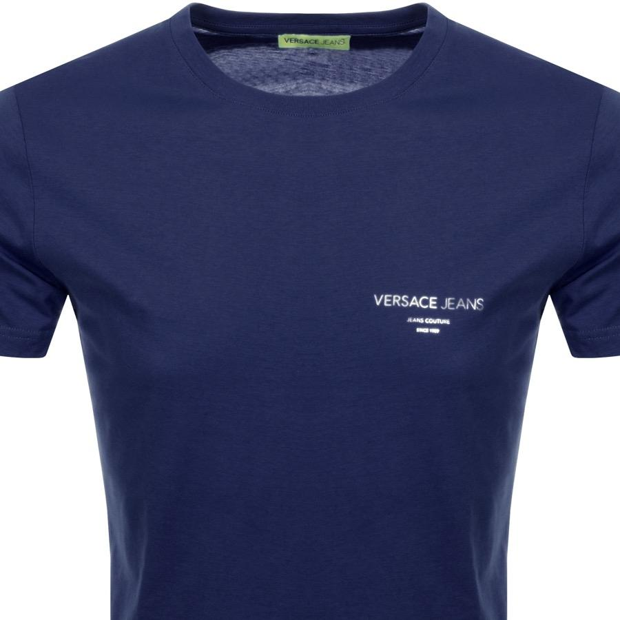 71a8f86fa28 Versace Jeans - Short Sleeved Foil T Shirt Blue for Men - Lyst. View  fullscreen