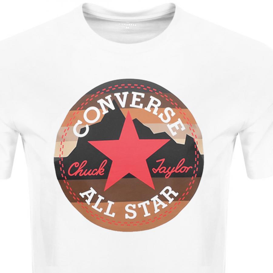 c4f947d46286da Lyst - Converse Chuck Logo T-shirt In White 10009064-a01 in White ...