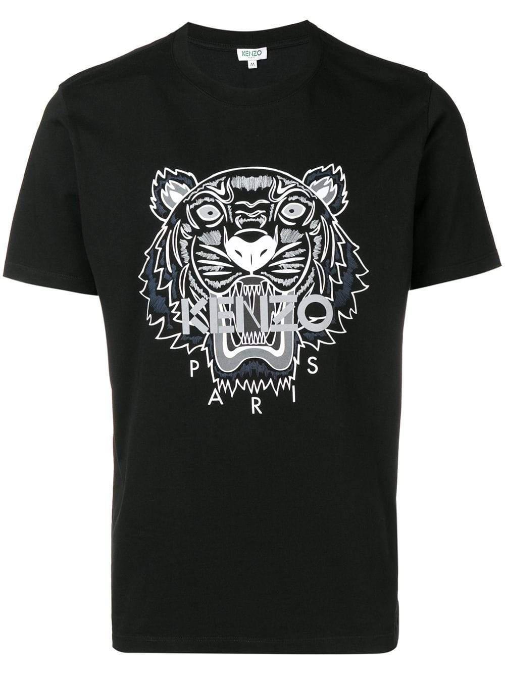 36dc38f2 KENZO - Black Tiger Print T-shirt for Men - Lyst. View fullscreen