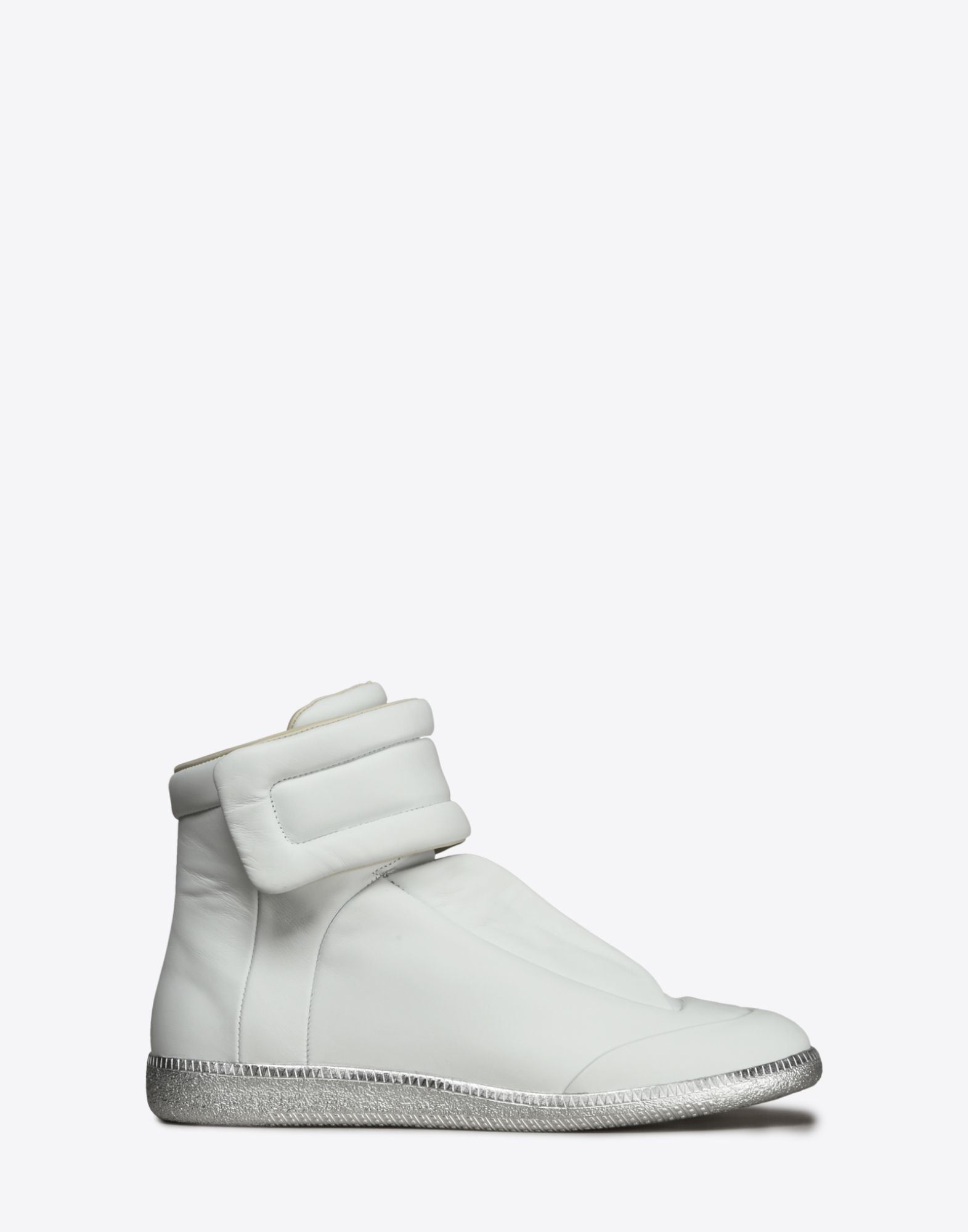 maison margiela future high top leather sneakers in white lyst. Black Bedroom Furniture Sets. Home Design Ideas