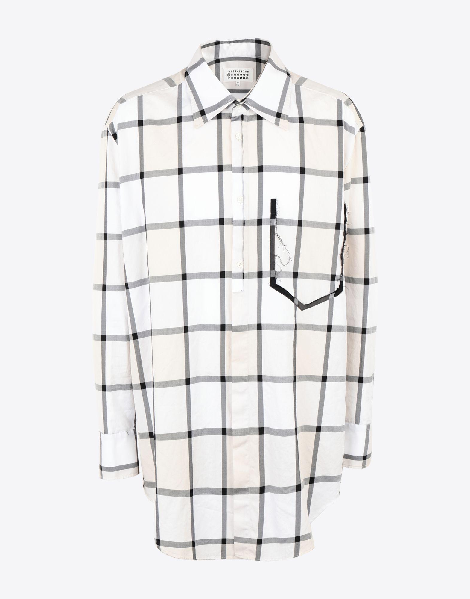378f3db0e2 Lyst - Maison Margiela Décortiqué Pocket Check Shirt in White for Men