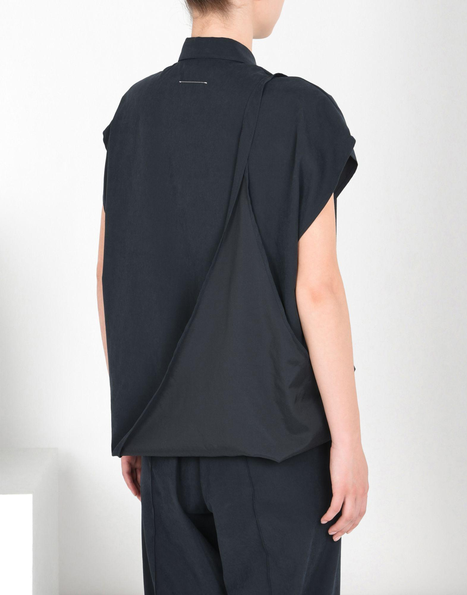 Free Shipping Outlet Store Free Shipping Prices Black Asymmetric Microfiber Shirt Maison Martin Margiela High Quality X2jkrH