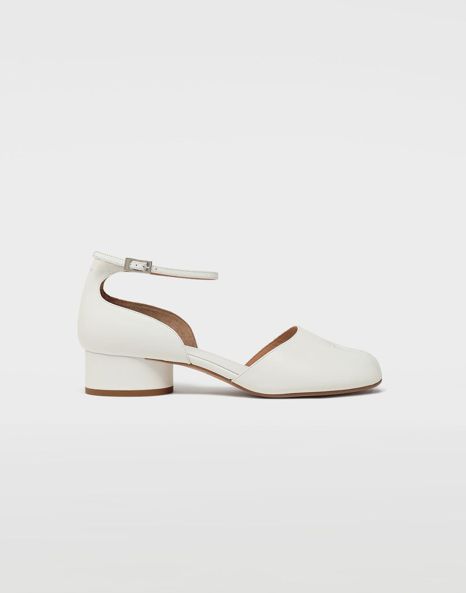 580400986fda Lyst - Maison Margiela Tabi Leather Ankle Strap Shoes in White
