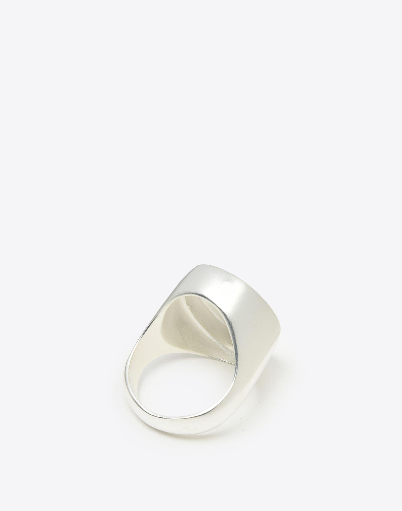 Maison Martin Margiela Sterling Silver And Gold-tone Signet Ring - Silver dPaKBTZR
