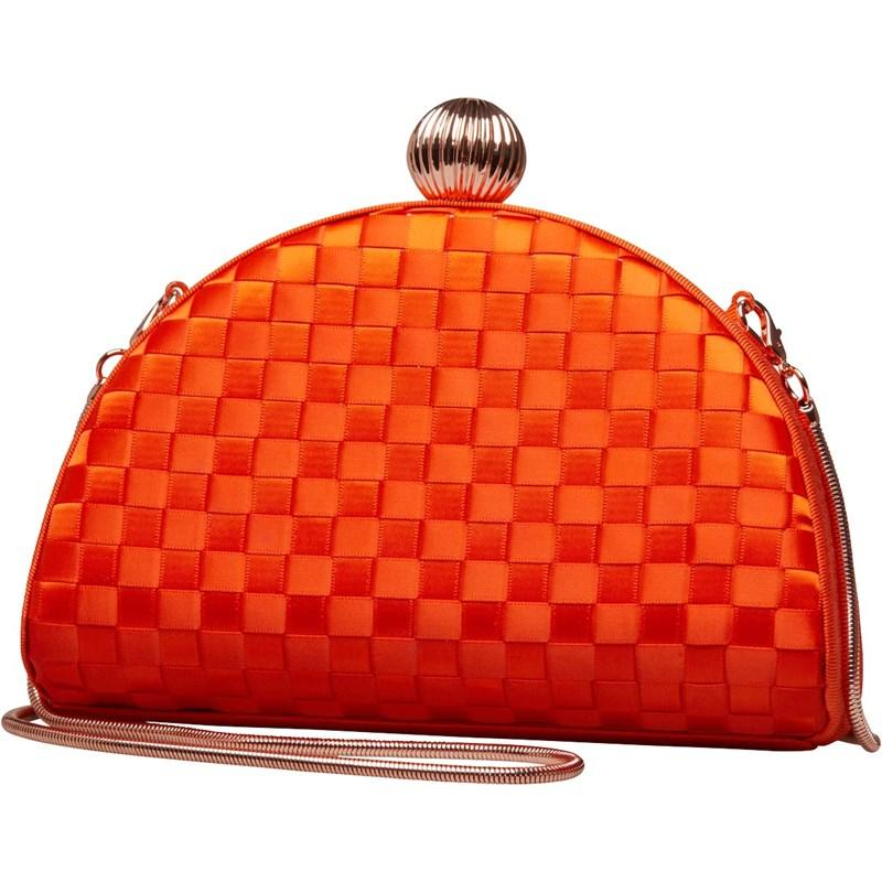 4940516c8b3d Ted Baker Kyla Weave Bobble Detail Clutch Bag Mid Red in Red - Lyst