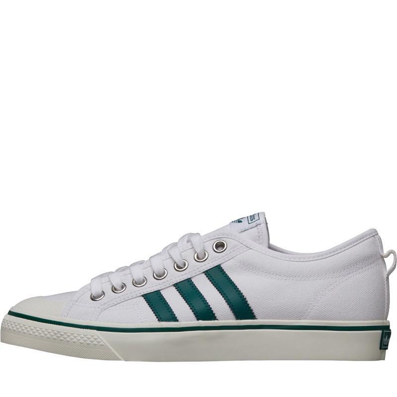 adidas Originals. Men s Nizza Trainers Footwear White collegiate Green off  White aea7668c8