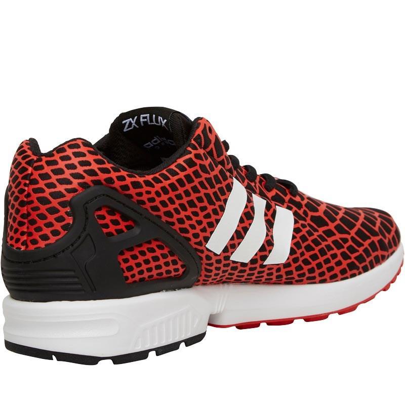 Adidas originali zx flusso techfit nucleo nero / bianco / rosso) in
