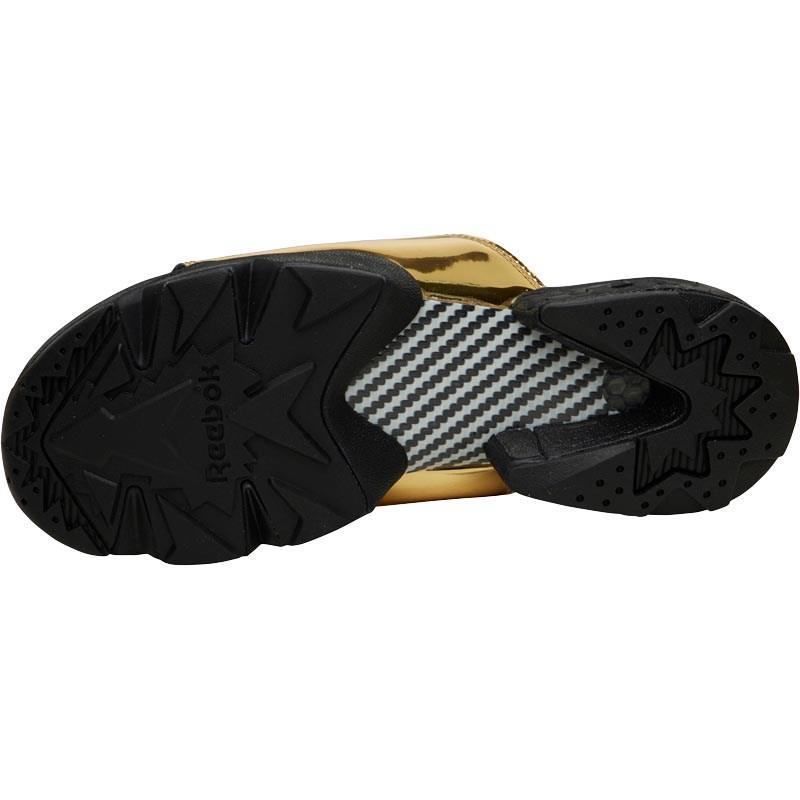 6b58d3d17 Reebok Fury Slide Magic Hour Sandals Gold Metallic black white in ...