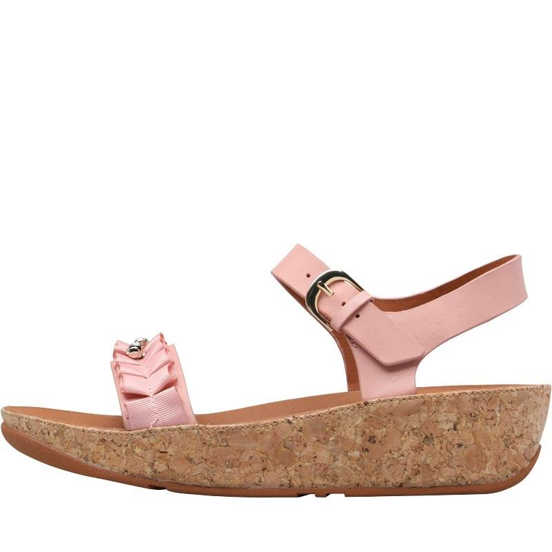 6ede88957dd2d Fitflop Ruffle Back Strap Sandals Dusky Pink in Pink - Save 56% - Lyst