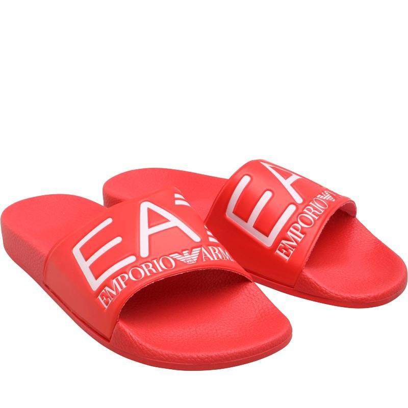 7234e236908d EA7 Sea World Slides Red in Red for Men - Save 31% - Lyst