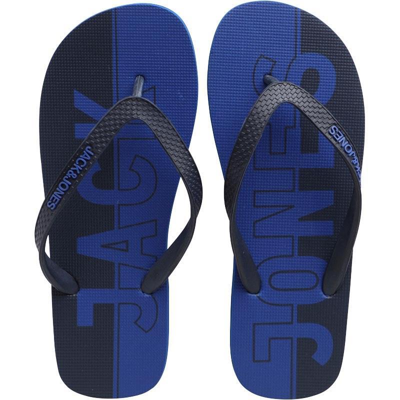 aa7151e4aba40 Jack   Jones Jfwlogo Flip Flops Turkish Sea in Blue for Men - Lyst