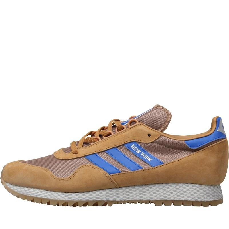 new concept 8dba7 422da adidas Originals New York Trainers Mesacardboardgum 2 in Blu
