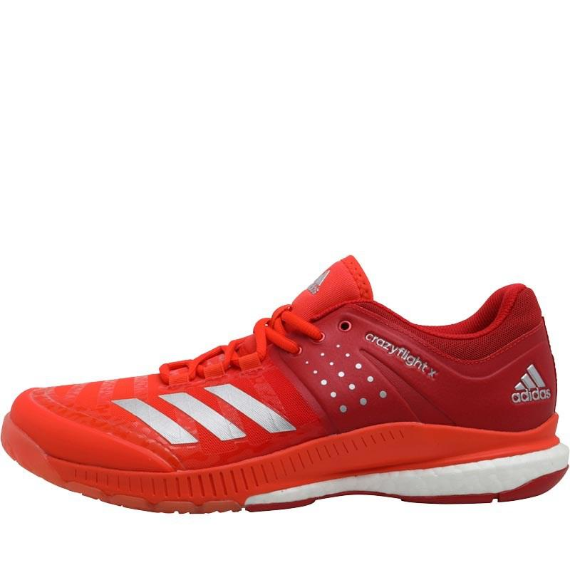 check out 082e4 2c917 adidas Mens Crazyflight X Volleyball Shoes Scarlet Silver Metallic Energy  Chaussures Khskx femme JCYl86